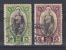 Thailand 1928 3b + 5b Fine Used - Thailand