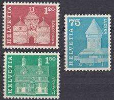HELVETIA - SUISSE - SVIZZERA - 1960/1963 - Lotto Di 3 Valori Nuovi MNH: Yvert 654, 658 E 659. - Unused Stamps