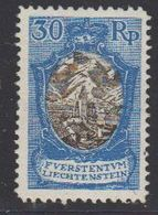 Liechtenstein 1925 Freimarken 30Rp Kirche Bendern 1v Unused Regummed (44053) - Ongebruikt