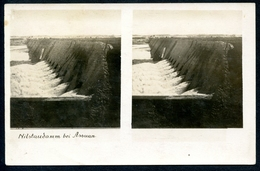 AK Nil-Staudamm Bei Assuan, Ägypten,Egypt, Stereokarte, Stereofoto, Stereobild - Ägypten