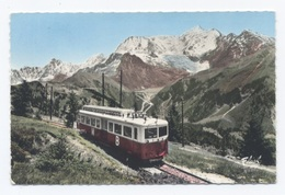 74--SAINT GERVAIS LA CHAINE DU MONT BLANC ET LE TRAMWAY --RECTO/VERSO - B63 - Saint-Gervais-les-Bains