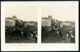 AK Jerusalem, Vor Den Mauern, Israel, Stereokarte, Stereofoto, Stereobild - Israel