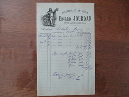 BRASSERIE DU XXe SIECLE EDGARD JOURDAN TRITH-SAINT-LEGER NORD FACTURE DU 26 Xbre 1919 - 1900 – 1949
