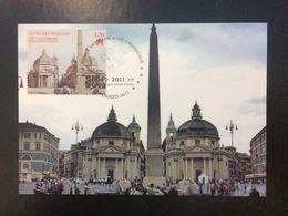 """2011 Cartolina Filatelicha FDC """"150°ANNIVER. UNITA' D'ITALIA 2011 -""""Proclamazione Del Regno D'Italia"""" - FDC"""