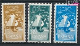 Spanien 1065-1067 (kompl.Ausg.) Postfrisch 1955 Telegrafie (9336106 - 1931-Heute: 2. Rep. - ... Juan Carlos I