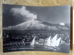 Catania Panorama Con L'Etna VIAGGIATA 1949 - Catania