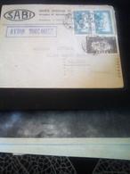 LETTRE  DE CASABLANCA POUR BORDEAUX 1937  Griffe Violette AVION TOULOUSE TB - Lettres & Documents