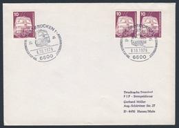 "Deutschland Germany 1976 Brief Cover- 10. Kongress F.I.P.-MG ""Eisenbahnwesen"" / Fédération Internationale De Philatélie - Treinen"