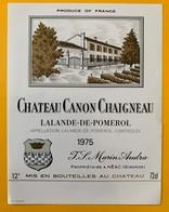 11236 - Château Canon Chaigneau 1975 Lalande-De-Pomerol - Bordeaux