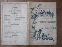 LES CONFERENCES DE LA BODINIERE CHANSONS DU CHIEN NOIR A CAMILLE STEFANI CHANSON DE JACQUES FERNY - Scores & Partitions