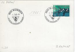 Switzerland 1966  MURREN  1.2.65   Mi.822 - Postmark Collection