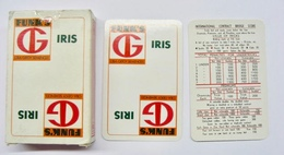 JEU DE 52 CARTES + 2 JOKER AVEC ETUI FUNK'S G IRIS CIBA-GEIGY SEMENCES - Cartes à Jouer Classiques