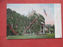 Prison   Front View With Flag      Auburn NY     Ref 3531 - Presidio & Presidiarios