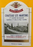 11241 - Château Les Martins 1981 - Bordeaux