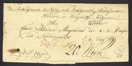 1833 Stampless Folded 1-page Letter To MAGISTRAD WIEN WOTTITZ, B.S. WIEN - ...-1850 Vorphilatelie