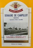 11242 - Domaine De Campillot  1981 Médoc - Bordeaux