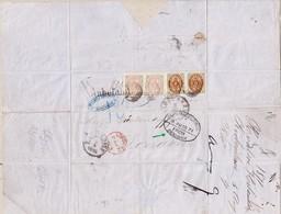 1871 Faltbrief Aus Kopenhagen Nach London Mit Paaren 3 +8 Skilling Frankiert; Bedarfspuren; - 1864-04 (Christian IX)