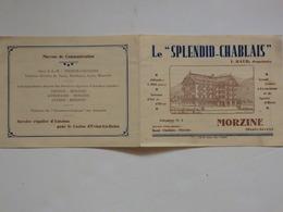 """Tarif Publictaire """"Le Splendid-Chablais"""" J. Baud Propriétaire à Morzine (74). - Publicités"""