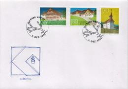 Liechtenstein Set On FDC - Architecture