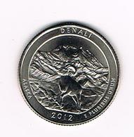 //  U.S.A.  1/4 DOLLAR  ALASKA - DENALI PARK   2012  P - Émissions Fédérales
