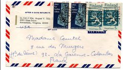 USA AFFRANCHISSEMENT COMPOSE SUR LETTRE POUR LA FRANCE 1968 - Estados Unidos