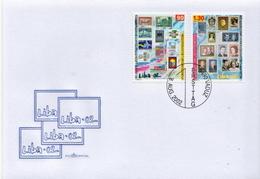 Liechtenstein Set On FDC - Stamps On Stamps