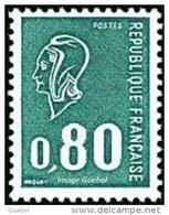 France Marianne De Béquet N° 1893 ** Le 80c Vert Gravé Provenant De Carnet - 1971-76 Marianne De Béquet