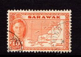 SARAWACK    1952    Map  Of  Sarawack     USED - Sarawak (...-1963)