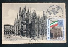 """2011 Cartolina MAXI FDC """"150°ANNIVER. UNITA' D'ITALIA 2011 - Regno Lombardo Veneto - Vaticano Benedetto XV - FDC"""