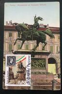 """2011 Cartolina MAXI FDC """"150°ANNIVER. UNITA' D'ITALIA 2011 - Regno Di Sardegna - Vaticano Benedetto XV - FDC"""