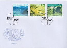 Liechtenstein Set On FDC - Holidays & Tourism