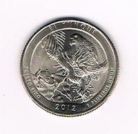 //  U.S.A.  1/4 DOLLAR  PUERTO RICO - EL YUNQUE   2012  P - Émissions Fédérales