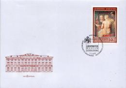 Liechtenstein Stamp On FDC - Nudes