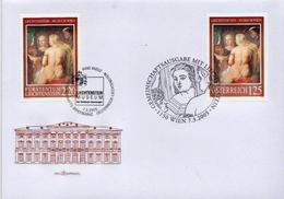 Liechtenstein And Austria Stamps On FDC - Nudes