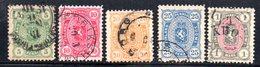 APR770 - FINLANDIA 1885 , Cinque Valori Usati  (2380A) - Gebruikt