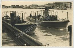 (Bateaux) Chalon-sur-Saône . Carte Photo De Vedettes Des Ets Schneider . Circa 1937 . - Chalon Sur Saone