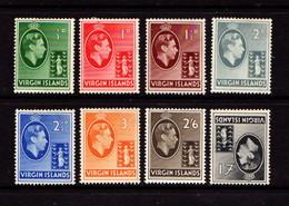 BRITISH  VIRGIN  ISLANDS    1938    George  VI    Part  Set  Of  8    MH - British Virgin Islands