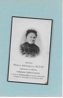 MARIA ANTONETTA BUYST :  WINTHAM-HINGENE-BORNEM-ANTWERPEN - Esquela