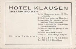 AK Unterschächen Hotel Klausen Klausenroute Klausenpass A Spiringen Bürglen Altdorf Urnerboden Uri UR Schweiz Suisse - UR Uri