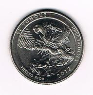 //  U.S.A.  1/4 DOLLAR  PUERTO RICO - EL YUNQUE   2012  S - Émissions Fédérales