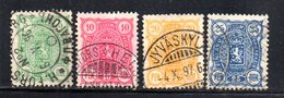 APR784 - FINLANDIA 1885 , Quattro Valori Usati  (2380A) - Gebruikt