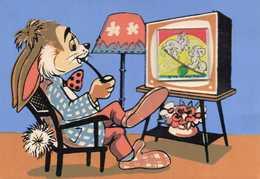 Lapin Regardant Les 101 Dalmatiens à La Télé - 3D - Other