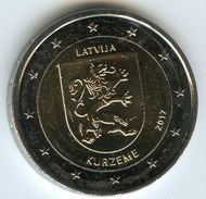 Lettonie Latvia 2 Euro 2017 Region Kurzeme UNC - Lettonia
