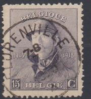 COB 169 Albert 1er Casqué Obli Centrale Simple Cercle FLORENVILLE - 1919-1920 Behelmter König