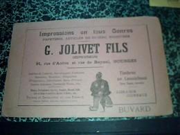 Buvard Publicitaire  G.JOLIVET & FILS Impression En Tout Genres à Bourges - Papel Secante
