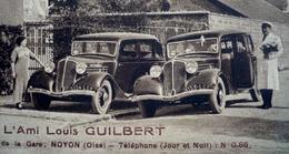 TRES BELLES AUTOS ANCIENNES - Les Taxis Modernes - A L'AMI LOUIS Café- Bal à NOYON (OISE) - Taxi & Carrozzelle
