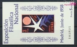 Spanien Block14 (kompl.Ausg.) Postfrisch 1958 Briefmarkenausstellung (9336102 - 1931-Heute: 2. Rep. - ... Juan Carlos I