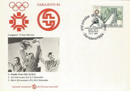Jugoslawien 1984: FDC Winterolympiade Sarajevo Mit Nr. 2007 #H35 - FDC