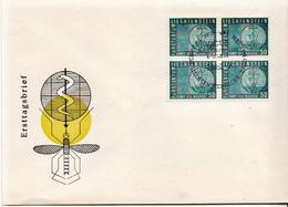 Liechtenstein Stamp In A Block Os 4 Of FDC - Disease