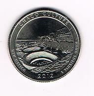 //  U.S.A.  1/4 DOLLAR  NEW MEXICO - CHACO CULTURE   2012 D - Émissions Fédérales